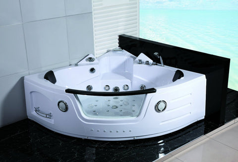 whirlpool bathtub. 2 Person Hydrotherapy Computerized Massage Indoor Whirlpool Jetted Bathtub  Hot Tub 050A WHITE