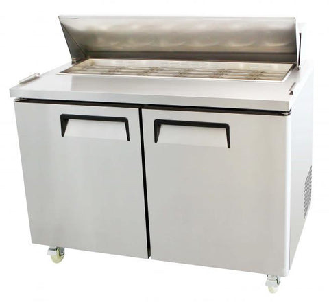 "48"" 2 Door Refrigerated Restaurant Mega Top Salad Prep Table MSF-8306"