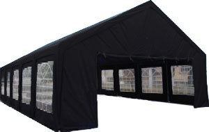 20' x 40' ft Outdoor Wedding Party Tent Gazebo Carport Shelter Garage BLACK 20x40