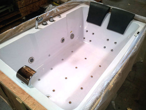Indoor hot tub 2 person  2 Person Indoor Whirlpool Jetted Hot Tub SPA Hydrotherapy Massage ...