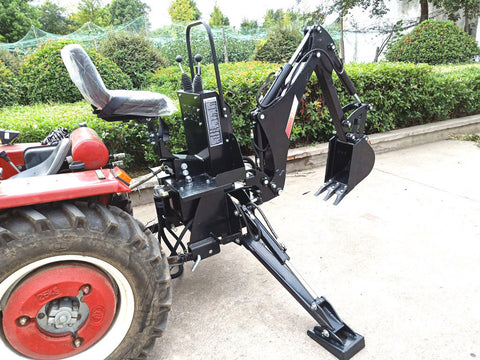 PTO 3 Point Linkage Excavator Hydraulic Backhoe Tractor Attachment BH5600 with 15 Inch Bucket