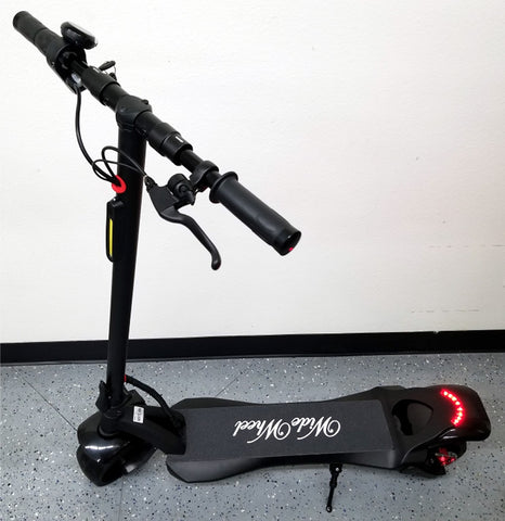 48V Wide Wheel Electric Fat Tire Kick Scooter 500W 800W Max 10.4AH Lithium - Single Motor