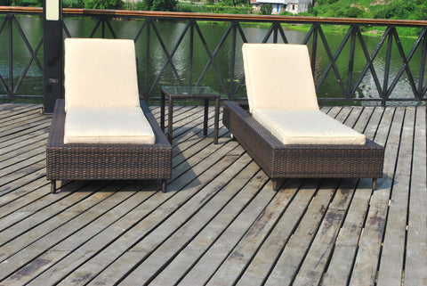 3 Piece Lounger Set Replacement Cushion Covers