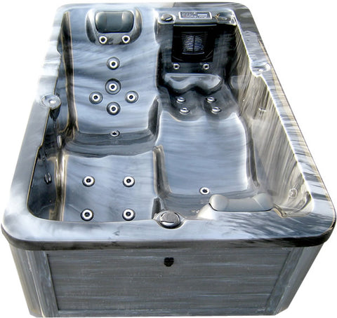 2 Person Indoor Outdoor Grey Marble Hydrotherapy Hot Tub Spa