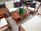 6 Piece Indoor / Outdoor Solid Wood Patio Furniture Set