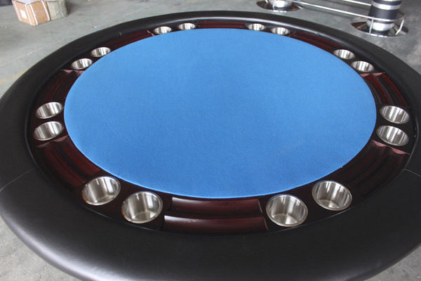 Mahogany Round Texas Holdem Poker Game Table Solid Wood