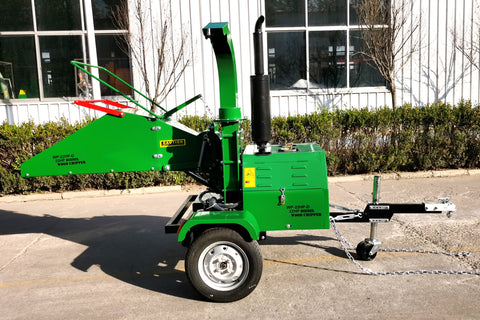 22HP Tow Behind Diesel Wood Log Chipper Shredder Mulcher WP-22HP-D Electric Start