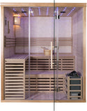 Wet Dry Traditional 3 Bench Swedish Steam SPA Sauna 4+ Person 8KW Heater