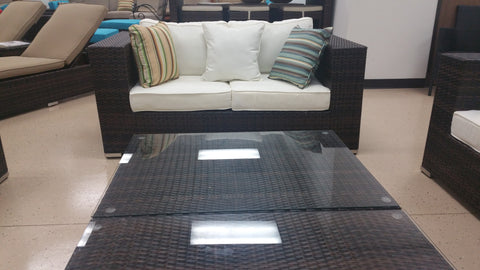 Marvelous ... California Deluxe 8 Piece Outdoor Wicker Patio Furniture Set ... Awesome Ideas