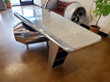 Large Polished Aircraft Aluminum Airplane Wing Aviator Office Desk w/ Turbine