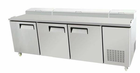 "93"" Pizza Prep Table MPF-8203 - 3 Door Commercial Refrigerated"