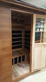 3 Person Outdoor FIR Far Infrared Canadian Red Cedar Sauna SPA Backyard
