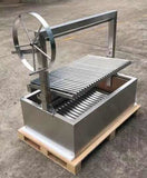 Built In Stainless Steel Outdoor Charcoal BBQ Parrilla Santa Maria / Argentine Grill Spit