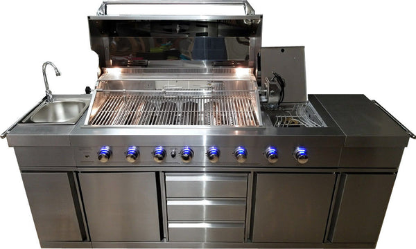 3 In 1 Stainless Steel Outdoor Bbq Kitchen Island Grill