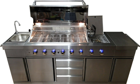 Awesome Stainless Steel Outdoor Island BBQ Grill
