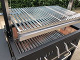 Outdoor Argentine Santa Maria Charcoal Wood BBQ Grill Spit Roaster Parrilla