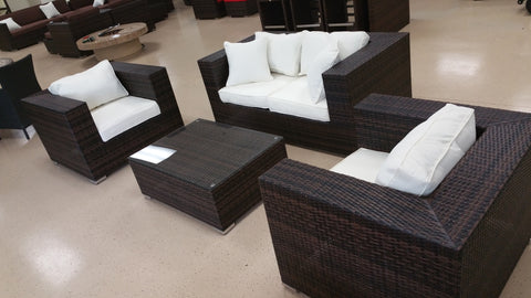 ... King Size 4 Piece Outdoor Wicker Patio Furniture Set ...
