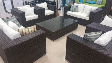 ... California Deluxe 8 Piece Outdoor Wicker Patio Furniture Set ...