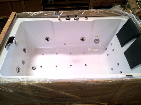 Incroyable ... 2 Person Indoor Whirlpool Jetted Hot Tub SPA Hydrotherapy Massage  Bathtub 051A WHITE W/ Bluetooth ...