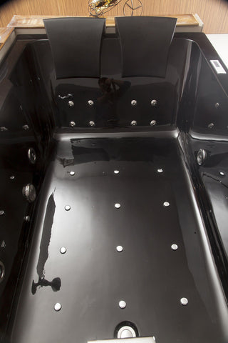 2 Person Black Jetted Whirlpool Massage Hydrotherapy