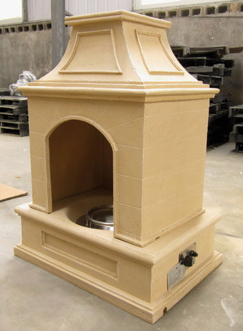 Gas Tuscan Style Outdoor Fireplace / Fire Pit