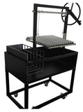 Drop-In Argentine / Santa Maria Charcoal Wood Fired BBQ Grill Parilla w/ Side Brasero