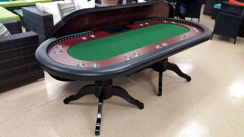 Deluxe Solid Wood Texas Holdem Poker Card Table 10 Person