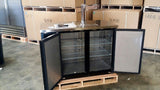 "48"" Kegerator Beer Dispenser Stainless Steel Top Refrigerator Cooler with Tap UDD-24-48"