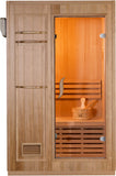 1/2 Person Hemlock Swedish Wet Dry Traditional Steam Sauna + 4.5KW Upgrade