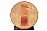 6' Barrel Sauna Canadian Outdoor PINE WOOD WET / DRY SPA 4 Person Size