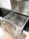Large 4 Piece Outdoor Grill Island - 8 Burner Grill, Double Refrigerator, Sink, + Charcoal Pit