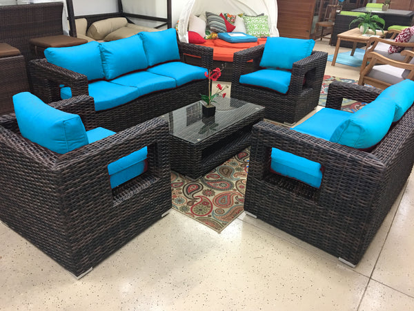 Rosarito Wicker Rattan Conversation Outdoor Patio Furniture Set Sdi Factory Direct Wholesale
