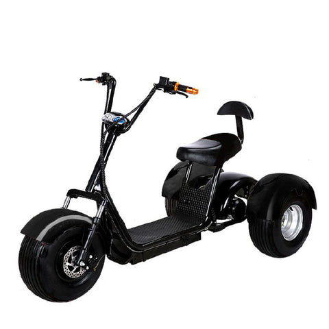 2000W 60V 20AH Golf Cart Electric Bike eBike Mobility Scooter 3 Wheel Moped w/ OFF ROAD TIRES