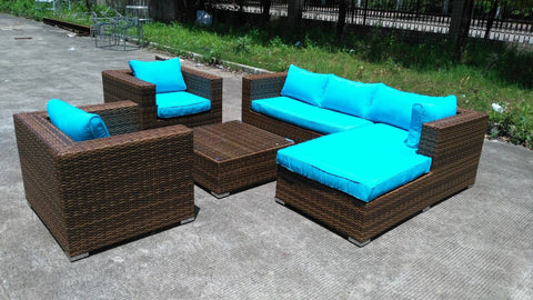 """Baja Deluxe"" Wicker Rattan Outdoor Patio Furniture Set"