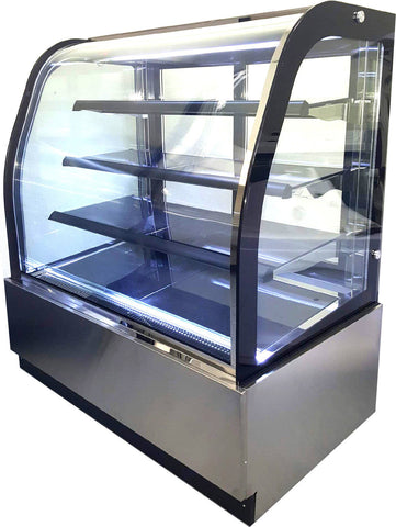 "47"" Curved Glass Front Cake Display Case Merchandiser - GL-840A"