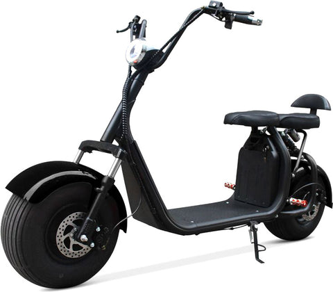 Double Seat 2000W 60V Wide Fat Tire Kick Electric Scooter Moped Electric Bike eBike Bicycle