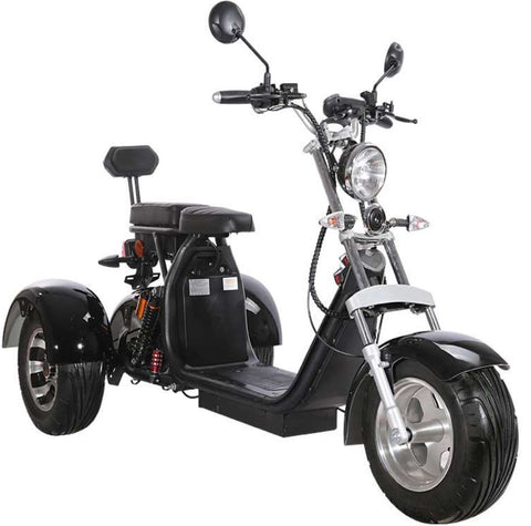 Electric 3 Wheel Trike Scooter Golf Cart Harley Style Chopper Mobility Motorcycle