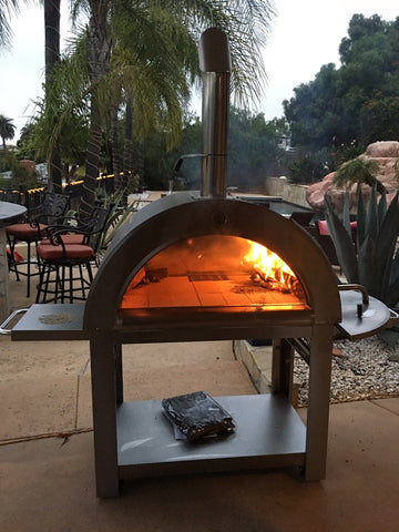 Xl size wood fired outdoor stainless steel pizza oven bbq grill san diego factory direct - Pizza jardin san francisco de sales ...
