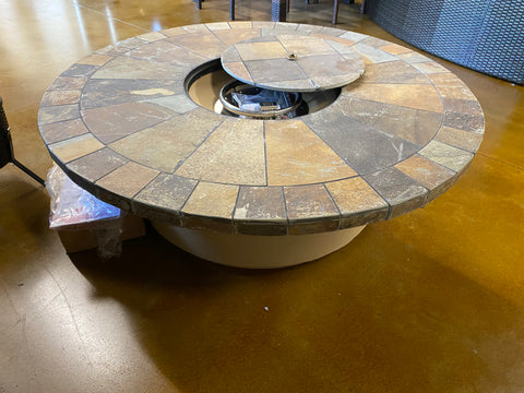 Outdoor Slate Fire Pit Table Propane Firepit