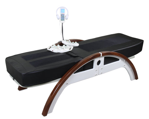Full Body Jade Therapy Massage Bed Spinal Traction Table 11 Rollers 2 Tappers, Adjustable Height, Back Lift Tilt, Bluetooth