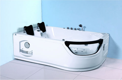 2 Person Corner Hydrotherapy Whirlpool Bathtub Spa Massage Therapy Hot Bath Tub w/ Heater - SYM634L