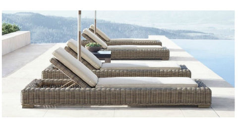 PE Rattan / Wicker Garden Chaise Pool Patio Sun Lounger