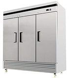 3 Door Commercial Reach In Stainless Steel Refrigerator - MBF-8508
