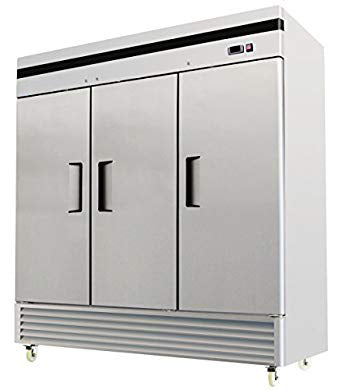 3 Door Commercial Reach In Stainless Steel Freezer - MBF-8504