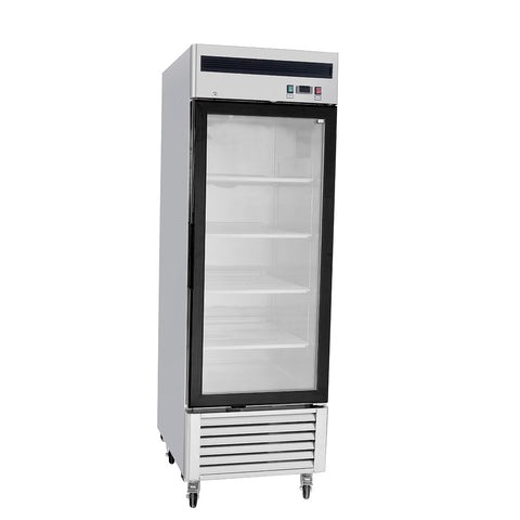 1 Door Glass Refrigerator Merchandiser Commercial Reach-In MCF-8705