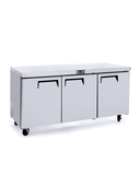 "72"" Undercounter Commercial Stainless Steel Refrigerator - MGF-8404"