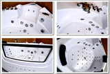 2 Person Indoor Hydrotherapy Whirlpool Jetted Massage Bathtub Bath Tub w/ Heater - SYM621B