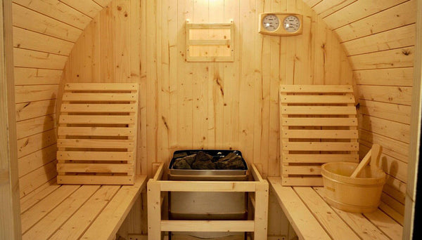 6 Foot Finland Pine Wood Barrel Wet Dry Sauna Spa Four 4