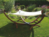 Outdoor Wood Hammock Daybed Lounger (Square Type)