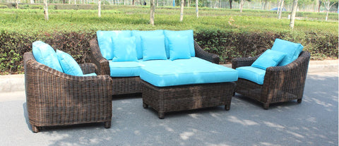 ... Catalina Full Round Weave 4 Piece Wicker Outdoor Patio Furniture Set ... Part 34